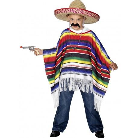 Disfraz de Mejicano Infantil (Poncho)
