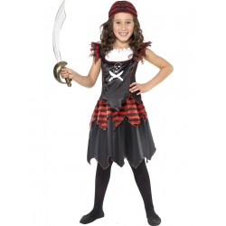 Disfraz De Niña Pirata De Negro Infantil
