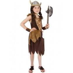 Disfraz De Niña Vikinga Infantil