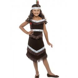 Disfraz De Chica India A Flecos Infantil