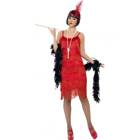 Disfraz de Años 20 Charleston Rojo Pasión