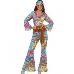 Disfraz de Mujer Hippie Flower Power