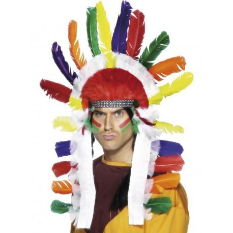 Tocado para la Cabeza de Gran Jefe Indio