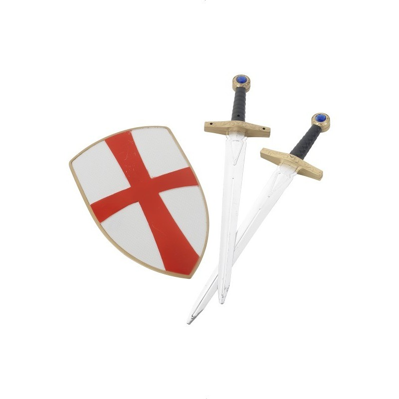 Set of 2 Caballeros hinchable Espadas y Drag/ón Escudos