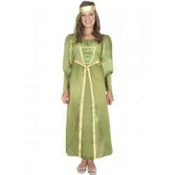 Disfraz De Princesa Medieval Verde Infatil