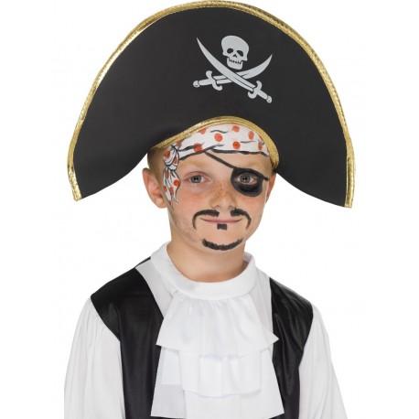Sombrero De Pirata Negro Infantil