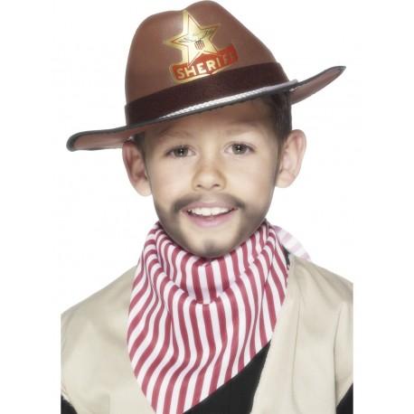 Sombrero De Cowboy Marrón Infantil