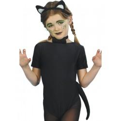 Kit Infantil De Gato Con Orejas, Collar Y Cola
