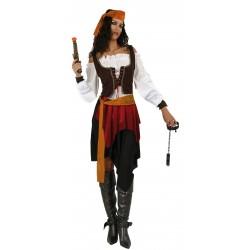 Disfraz de Pirata Feroz Mujer