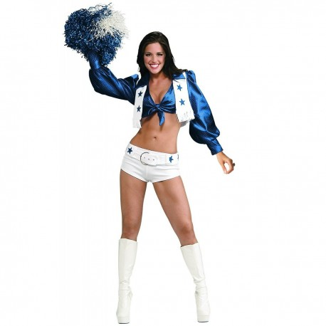 Disfraz de Animadora Americana Azul