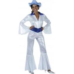 Disfraz de Mujer Discotequera de los Setenta Estilo Abba