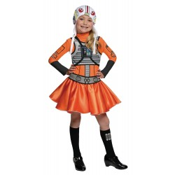 Disfraz de Piloto X-Wing Star Wars para Niña (Oficial)