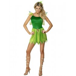 Disfraz de Hada de los Bosques Verdes Estilo Campanilla