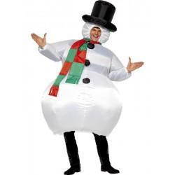 Disfraz de Muñeco de Nieve Hinchable