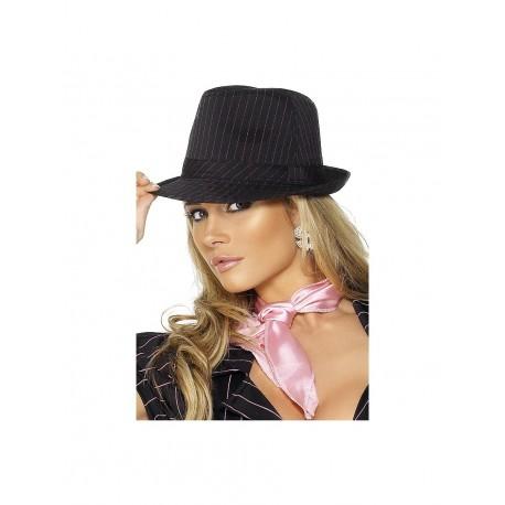 Sombrero de Gangster Negro