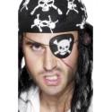 Parche De Ojo De Pirata Negro Con Calavera Blanca