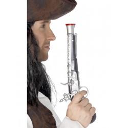 Pistola Pirata Plateada