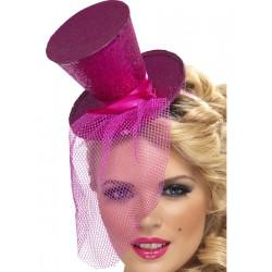 Tocado En Forma De Sombrero Rosa