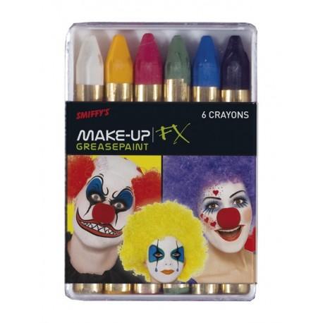 Ceras De Maquillaje Graso En 6 Colores