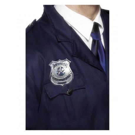 Insignia De Policía Plateada