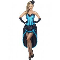 Disfraz de Bailarina de Can Can Azul