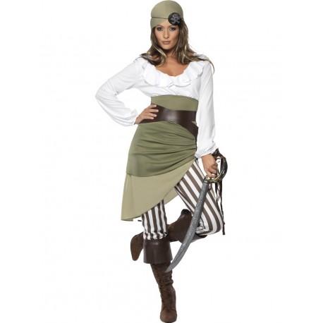 Disfraz de Tripulante Pirata Mujer
