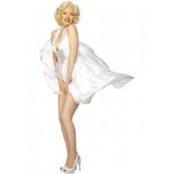 Disfraz de Marilyn Monroe sobre el Metro