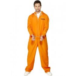 Disfraz de Prisionero de Máxima Seguridad (Traje Naranja)