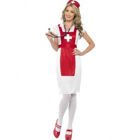 Disfraz de Enfermera Blanca y Roja