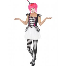Disfraz de Adolescente Payasa Arlequin
