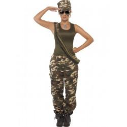 Disfraz de Mujer Comando en Camuflaje