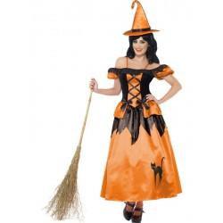Disfraz de Bruja de Cuento Naranja