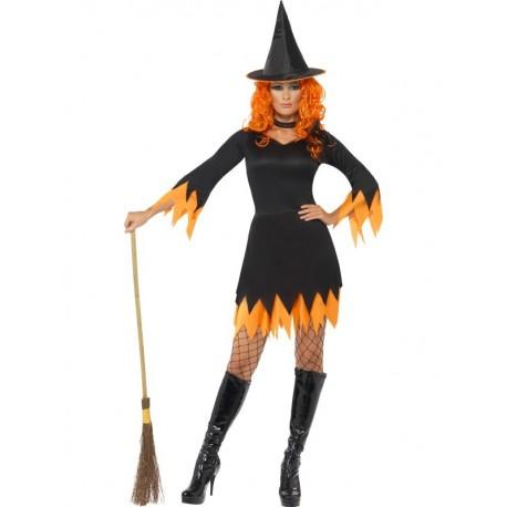Disfraz de Bruja Sexy Naranja