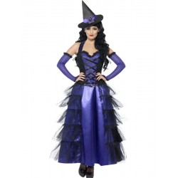 Disfraz de Bruja Violeta Glamurosa