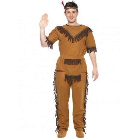 Disfraz De Indio Valiente Marrón