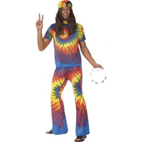 Disfraz De Hippie Con Traje De Tinte A Nudos