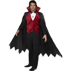 Disfraz De Vampiro Rojo Y Negro