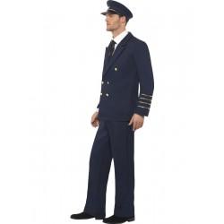 Disfraz De Piloto Comercial Azul Oscuro