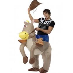 Disfraz Hinchable De Vaquero A Caballo