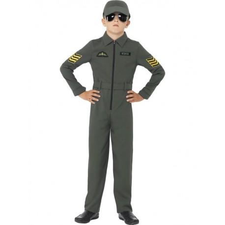 Disfraz de Aviador Khaki Infantil