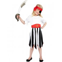 Disfraz De Niña Pirata Infantil