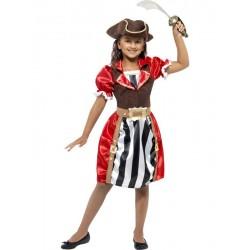 Disfraz De Capitana Pirata Infantil