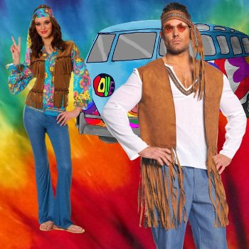 Disfraces de hippies