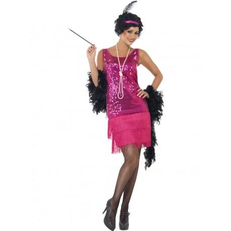 Disfraz de Años 20 Charleston Rosa