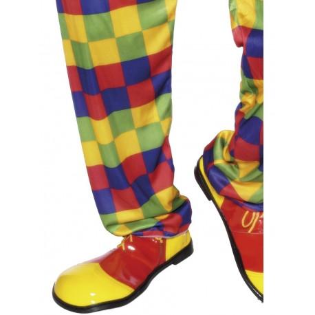 Zapatos de Payaso Rojos y Amarillos