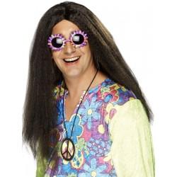 Peluca Morena Larga Para Hippie