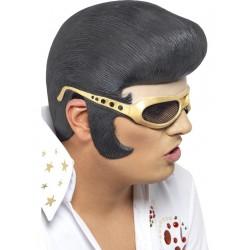 Casco De Elvis Con Tupé Y Gafas De Sol