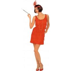 Disfraz de Bailarina de Charleston de los Años 20 en Rojo