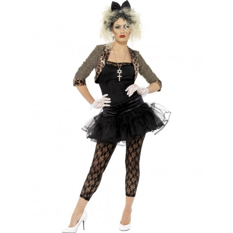 Disfraz de Chica Rebelde Ochentera Estilo Madonna