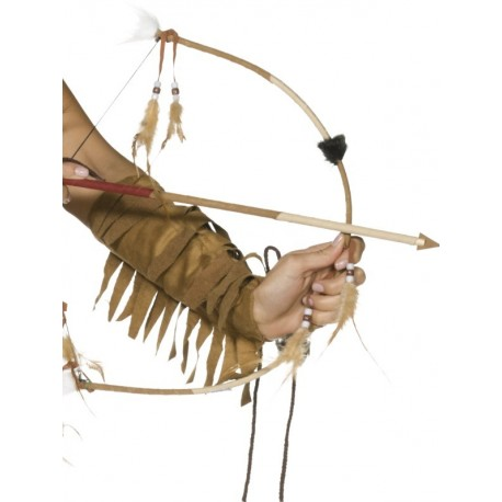 Arco y Flecha con Plumas para Disfraces de Indios